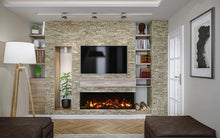 "Load image into Gallery viewer, Amantii 50"" 3 Sided Glass 14'' Depth Electric Fireplace"