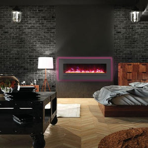 "Sierra Flame 48"" Wall Mount or Flush Mount Electric Fireplace"