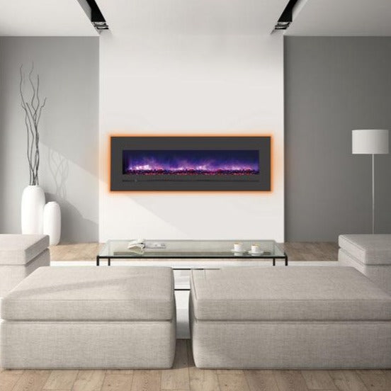Minimalist Living Room with Sierra Flame 60