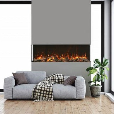 Amantii 72-inch 3-Sided Glass 14-Inch Depth Electric Fireplace | Very Good Fireplaces
