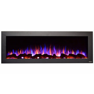 "Black indoor/outdoor electric fireplace | Touchstone Sideline 50"" Indoor/Outdoor electric fireplace"