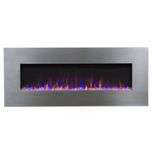 "Load image into Gallery viewer, Touchstone AudioFlare Stainless 50"" Recessed Mounted Electric Fireplace - Indoor Fireplaces  