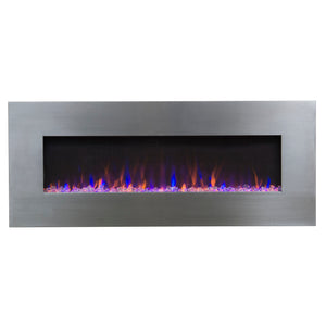 "Touchstone AudioFlare Stainless 50"" Recessed Mounted Electric Fireplace - Indoor Fireplaces  