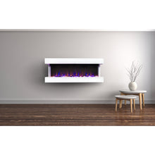 "Load image into Gallery viewer, Touchstone Chesmont 50"" Black Wall Mounted Electric Fireplace 80034"