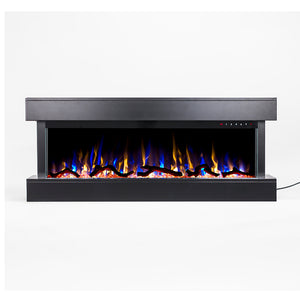 "Touchstone Chesmont 50"" Black Wall Mounted Electric Fireplace 80034"