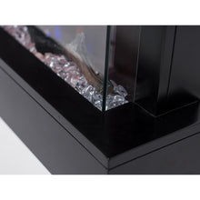 "Load image into Gallery viewer, Touchstone Chesmont 50"" Black Wall Mounted Electric Fireplace"