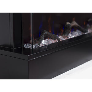 "Touchstone Chesmont 50"" Black Wall Mounted Electric Fireplace"