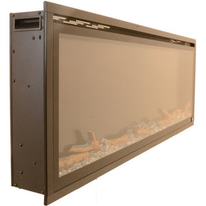 "Touchstone Sideline Elite 72'' Minimal frame with wide 68"" x 14 3/8"" flame viewing area."
