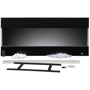 Touchstone 80040 - Fury Mantel Style Electric Fireplace - 3 Sided Design | Very Good Fireplaces