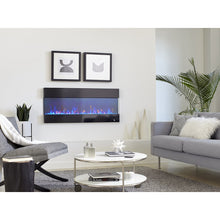 "Load image into Gallery viewer, Living Room Touchstone Fury 50"" Black Frame Mantel Recessed Mounted Electric Fireplace 80040 