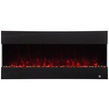 "Load image into Gallery viewer, Touchstone Fury 50"" 3-Sided Recessed Mounted Electric Fireplace 80040 