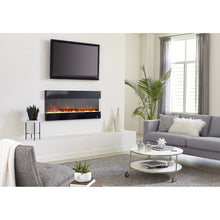 "Load image into Gallery viewer, Living Room Touchstone Fury 50"" 3-Sided Mantel Recessed Wall Mount Electric Fireplace 80040 
