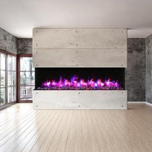 Load image into Gallery viewer, Amantii 88-Inch 3-Sided Glass 14-Inch Depth Electric Fireplace | Very Good Fireplaces