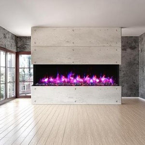 Amantii 88-Inch 3-Sided Glass 14-Inch Depth Electric Fireplace | Very Good Fireplaces