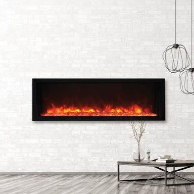 Amantii 50″ Extra Slim Indoor or Outdoor Built-In Electric Fireplace | Very Good Fireplaces