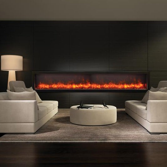 Amantii 88-Inch Built-in Only DeepView Electric Fireplace - Indoor or Outdoor | Very Good Fireplaces