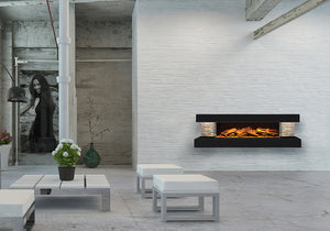 Compton 1000: Black Electric Fireplace Suite by European Home