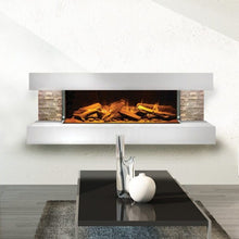 Load image into Gallery viewer, Compton 2: White Stone Electric Fireplace Suite by European Home