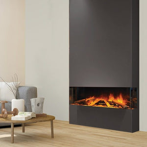 E40 3 Sided Electric Fireplace by European Home, Recessed Electric Fireplace | Very Good Fireplaces