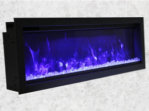 "Amantii 60"" Extra Tall Clean Face Built-in Electric Fireplace"
