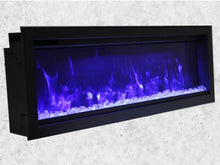 "Load image into Gallery viewer, Amantii 88"" Symmetry Extra Tall Built-in Electric Fireplace"