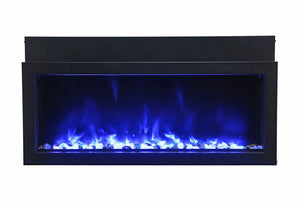 Amantii 40″ Extra Slim Indoor or Outdoor Built-In Electric Fireplace
