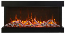 "Load image into Gallery viewer, Amantii 40"" Tru View 3-Sided Glass 14'' Depth Electric Fireplace"
