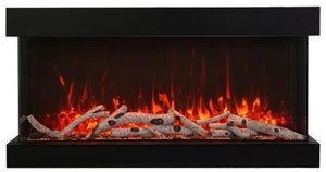 "Amantii 72"" 3-Sided Glass 14'' Depth Electric Fireplace"