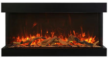 "Load image into Gallery viewer, Amantii 88"" 3-Sided Glass 14'' Depth Electric Fireplace"