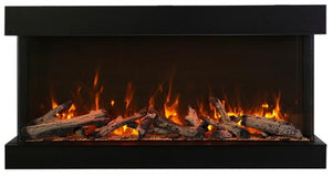 "Amantii 50"" 3 Sided Glass 14'' Depth Electric Fireplace"
