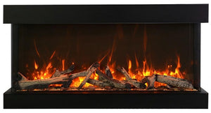"Amantii 60"" 3-Sided Glass 14'' Depth Electric Fireplace"