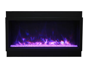 Amantii BI-50-DEEP-XT Electric Fireplace with Clear Diamond and Blue, Yellow, Purple Flame | Very Good Fireplaces