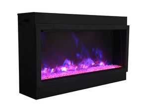 Amantii BI-50-DEEP-XT Electric Fireplace with Clear Diamond and Blue Orange Flame | Very Good Fireplaces