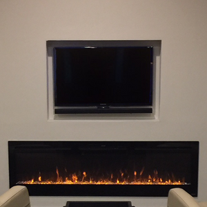 "Touchstone Sideline 84"" Recessed Electric Fireplace"