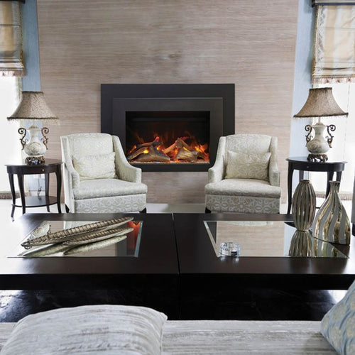 Sierra Flame 30-Inch Electric Insert Series with Black Steel Surround | Very Good Fireplaces