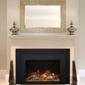 "Sierra Flame 34"" Electric Insert Series with Black Steel Surround"