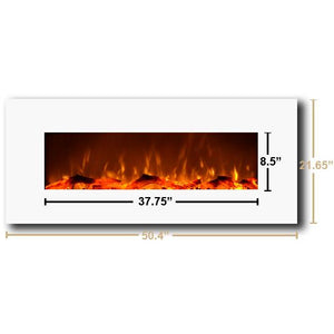 "Touchstone Ivory 50"" Wall Mounted Electric Fireplace"