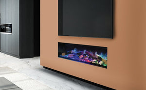 "Linnea 60"" HALO Electric Fireplace by European Home"