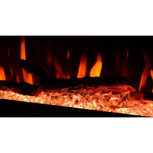 Load image into Gallery viewer, Zoom in fire flame in an electric fireplace with log and crystal inside.