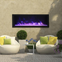 "Load image into Gallery viewer, Outdoor Setup of Remii 45"" Deep Indoor or Outdoor Electric Built-in only with Black Steel Surround 