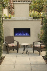 Remii 45″ Extra Tall Indoor or Outdoor Built-In Only Electric Fireplace