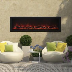 "Remii 55"" Deep Indoor or Outdoor Electric Built-in only with Black Steel Surround 