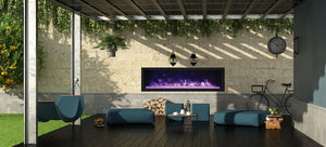 "Remii 55"" Extra Slim Indoor or Outdoor Built-In Only Electric Fireplace"