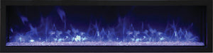 "Remii 65"" Extra Slim Indoor or Outdoor Built-In Only Electric Fireplace"