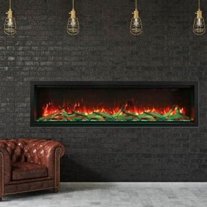 Amantii Symmetry 74-Inch Extra Tall Clean Face Built-in  Electric Fireplace | Very Good Fireplaces