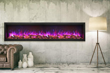 "Load image into Gallery viewer, Amantii 60"" Extra Tall Clean Face Built-in Electric Fireplace"