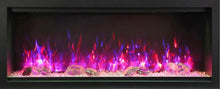 "Load image into Gallery viewer, Amantii 74"" Extra Tall Clean Face Built-in Electric Fireplace"