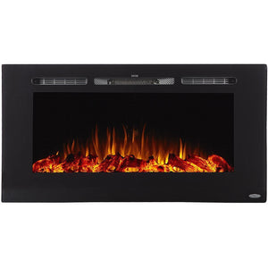 "Touchstone Sideline 40"" Recessed or Mounted Electric Fireplace"