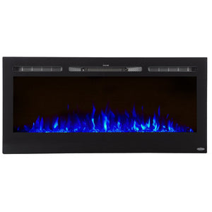 "Touchstone Sideline 45"" Recessed Mounted Black Frame Electric Fireplace 80025"