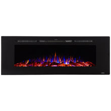 "Load image into Gallery viewer, Touchstone Sideline 60"" Recessed Mounted Black Frame Electric Fireplace 80011"